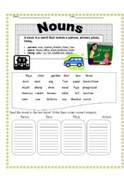 Printables Worksheets For Nouns english teaching worksheets nouns nouns