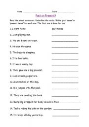 English Worksheets: Past or Present