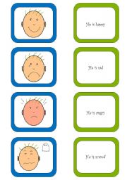 English Worksheets: Memory card game (1/2)