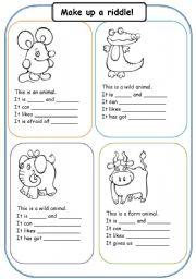 English teaching worksheets: Riddles