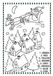 english worksheet christmas