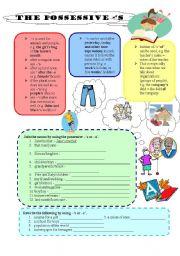 English Worksheets: The possessive �s