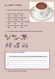 English Worksheet: Coffee