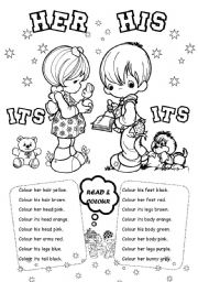 English Worksheet: His Her  Its