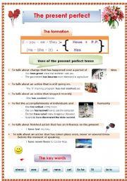 English Worksheet: The present  perfect tense