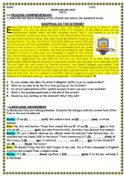English Worksheet: THE INTERNET