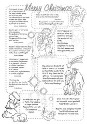 English Worksheet: Christmas Wishes and Quotations