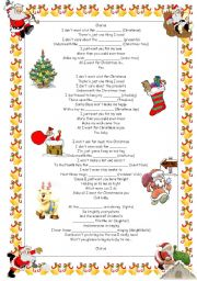 English Worksheets: All I want for Christmas by Mariah Carey