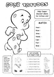 English Worksheets: Body tattoos
