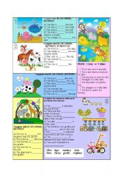 English Worksheet: Animals and Preposition