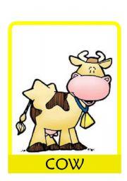 English Worksheet: ANIMALS FLASH CARDS (SET OF 14 FLASH CARDS)