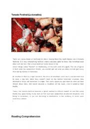 English Worksheets: Tomato Festival
