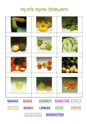 English Worksheet: Fruit from Thailand