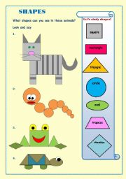 English Worksheet: Fun with shapes