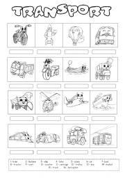 English Worksheet: Transport 2