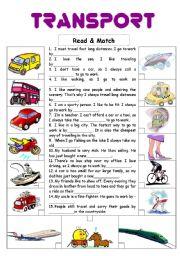 English Worksheets: Transport 3