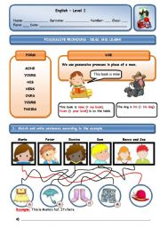 English Worksheet: THIS IS MY BOOK. IT�S MINE!