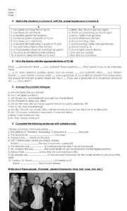 English Worksheets: greeting and description