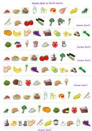 English Worksheets: ATOMIC FOOD by David Guetta