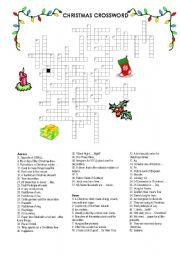 English Worksheet: CHRISTMAS CROSSWORD II