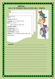 English Worksheets: writing  activity -introduction someone-