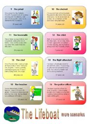 English Worksheets: Get your class talking - THE LIFEBOAT 3/4