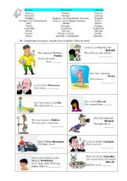 English Worksheet: Nations, short poems writing
