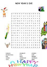 English teaching worksheets: New year