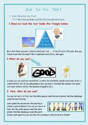 English Worksheets: Just for Fun Collection Part 1