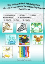English Worksheets: Find out hidden mickey ..really interesting :)