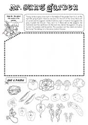 English Worksheet: Mr. Bun�s Garden (vegetables)