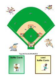 English Worksheet: Game OPPOSITES Baseball 1/3