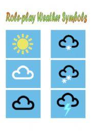 english worksheets weather symbols. Black Bedroom Furniture Sets. Home Design Ideas