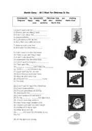 english worksheet mariah carey all i want for christmas is you - All I Want For Christmas Is You Mariah Carey Lyrics