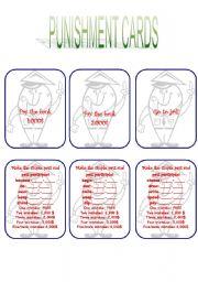 English Worksheet: Grammar monopoly - Punishment cards 3/5