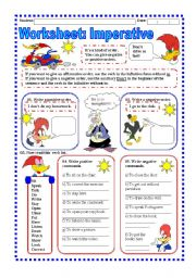 English Worksheet: Worksheet: Imperative