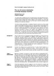 English Worksheet: A new approach to language teaching - article