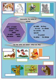 English Worksheets: Animals, animals