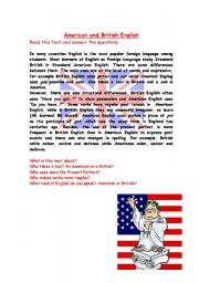 English Worksheets: American and British differences
