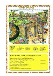 English Worksheet: The Park