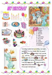 English Worksheet: MY BIRTHDAY