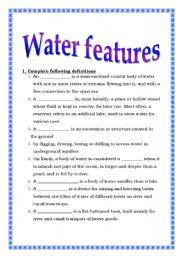 English teaching worksheets: Water