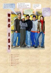 English Worksheets: Who is...?