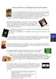 English Worksheets: Science fiction in literature and on the screen PART 1/2