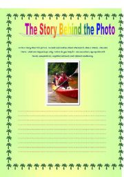 English worksheet: Writing: The Story Behind the Photo 1