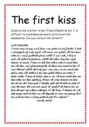 English Worksheets: The first kiss