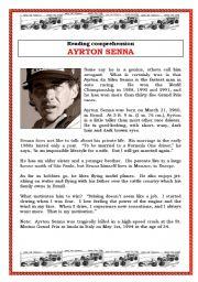 English Worksheets: Ayrton Senna (3 pages)