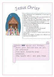 English Worksheets: Jesus Christ