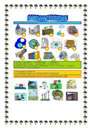English Worksheets: ENVIRONMENT PROTECTION