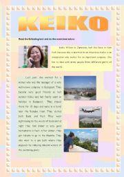 English worksheet: Her life